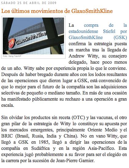 Glaxo Blogaceutics
